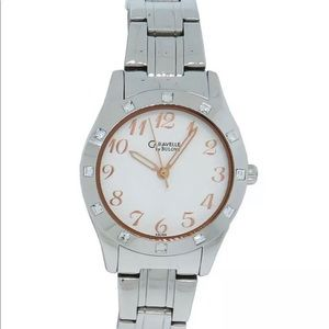 NWT Caravelle by Bulova Women's crystal Watch